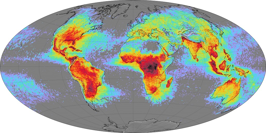 what is lightining strike map of world